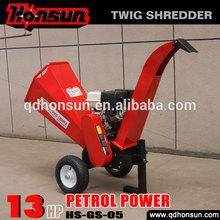 High quality garden shredder Honda motor CE approved Kohler gas engine trailer hydraulic gas power chipper