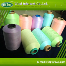 Photoluminescent polyester embroidery Yarn for textiles