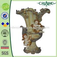 "18.5"" Big Ventage Double Angle Decorative Resin Antique Vase Planter"