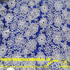 YJC33027(125CM) Floral design royal blue embroidered cotton nigerian lace fabric