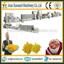 Full automatic puff snack corn ball process machine