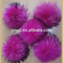 2014 hot sale raccoon fur pompons