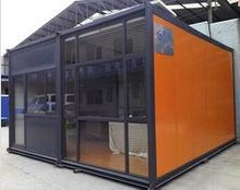 high quality portable glass office houses container for sale