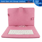 Portable bluetooth keyboard case, 10 inches universal leather keyboard cover case