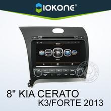 oem 8'' kia cerato internet double din car dvd with phonebook ipod , wifi , gps ,reversing camera , AUX
