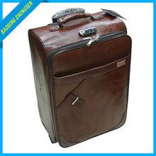 Trolley PU leather luggage casevintage leather luggage sigg luggage