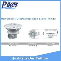 Concrete swimming pool accessories pool fitting pool main gutter drain