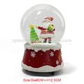 el más reciente 2015 resina de navidad bola de nieve con la campana musical