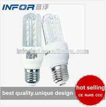 E27 3-15w U shape led bulb companies looking for representative led light