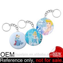 custom badge pulsante personaggio dei cartoni animati portachiavi Cenerentola cartoon