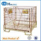 Folding stackable pet preform wire warehouse storage cage