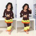 Thanksgiving jour bébé vêtements enfants coton vêtements ensembles turquie jeux de couette
