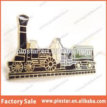 2014 New Factory Whole Sale Steam Locomotive & Coal Car Tie Hat Cap Lapel Pin Badge Train Railways Track Epoxy Lapel Pin
