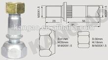 Zincado roda parafuso com forjado nuts para ISUZU JUMBO frente
