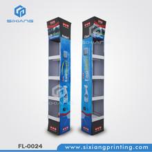 T-shirt multilayer POS free standing cardboard floor display,FSDU display