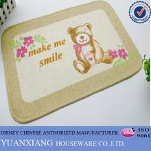 Comfortable bear pattern pp kitchen rugs