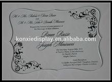 popular grade luxury wedding card invitation,acrylic glass card
