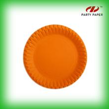Orange Paper Plate For Birthday