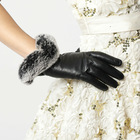 ladies pure leather gloves keep hands warm in winter