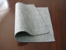 Needle punched nonwoven fire resistant felt