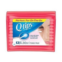 Q-Tips Cotton Swabs, 30 ct., Travel Size Purse