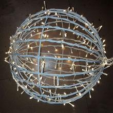 1m led wholesale white round christmas ornaments