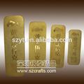 Altın külçe bar/metal plaka gravür logolu