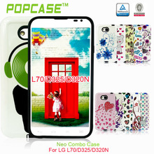 2 IN 1 HARD Gummy combon CASE COVER with shinny For L70/D325/D320N