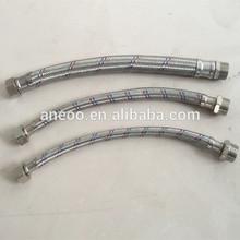 SS/Aluminium knitted bathroom flexible faucet extension hose