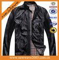 Clássico men's jaqueta de couro de cobra