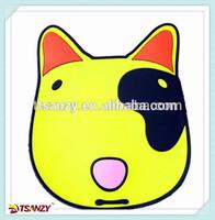 soft pvc coaster / Cartoon dog face coaster