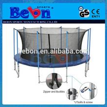 2014 cheap large household gymnastic superb trampoline enclosure