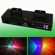 DCM285 Four head 4 color fat beam moving head laser