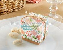 """Unique decoration box """"Vintage Floral"""" Favor Box with natural twine"""