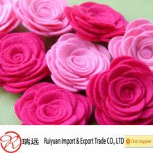 HOT SALE!! Promotional Wonderful felt rose flower for wedding decoration