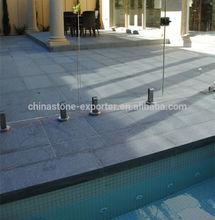Natural black granite for chinese swimming pools, black granite G684 paving stone