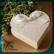 fancy paper wedding gift heat shape box