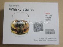 Whisky soap stone velvet bag for cold drink ice cube rocks whiskey gift