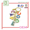 fashion letter key rings letter m keychain nice key chain/key holder