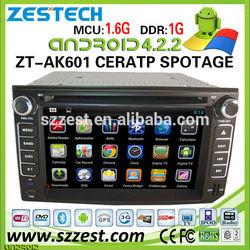 ZESTECH car dvd for Kia Cerato car dvd with gps Android 4.2.2 Wifi 3G Auto radio
