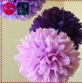 Casamento flores decorativas como item diy, pompom flor lembranças para casamento, purple tema de decoração de casamento