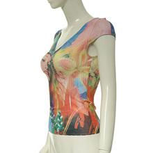 nueva llegada de las señoras de largo impreso blusas para 2014