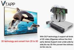 VTAPP 2014 hotsale A2S projector 3D windows system home theater computer advertisement