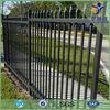 Shengwei fence - Black powder coated decorative backyard galvanized steel fence panels