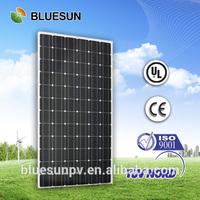 25 years warranty TUV/CE/UL max power 300 watt 72 cell monocrystalline solar panel for solar system