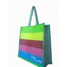 2015 Printed Reusable Pp Tote Non Woven Lamination Shop Bag