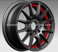 Black with inner lip car alloy wheels 14 inch, 16 inch (ZW-XM067)