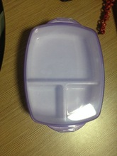 3parts printed allowed transparent lunch boxes with lid BPA free