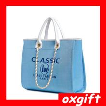 OXGIFT classic fashion women handbag simple shoulder bag large canvas bags