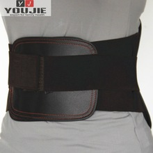 durable and breathable padded mesh material elastic leather back support belt brace